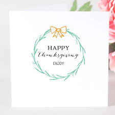 personalised happy thanksgiving card by megan