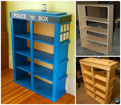 Free Wood Bookshelf Plans by Diy Tardis Bookshelf Projects Picture Instructions