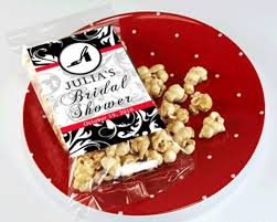 personalized bridal shower favors personalized caramel popcorn bridal shower favors my wedding favors