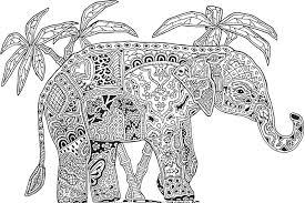 Coloriage Relaxant Coloriage Relaxant Elephant 4507