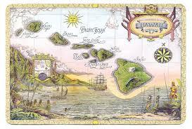 Map Hawaii Detailed Illustrated Map Of Hawaii Hawaii Detailed Illustrated