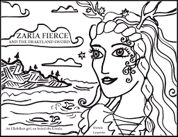 zaria fierce coloring pages