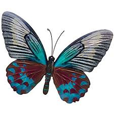large metal colourful butterfly garden decoration wall 26cm x
