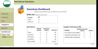 Exles Of Dashboards In Excel by Microsoft Access Inventory Template 28 Images Inventory