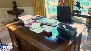 oval office desk president george w bush gets up from his desk in
