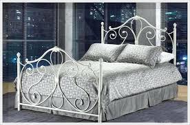 white rod iron bed frame frames pcnielsen com