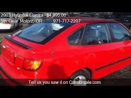 2003 hyundai elantra hatchback 2003 hyundai elantra gt 4dr hatchback for sale in portland