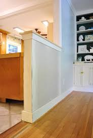 Quarter Round Kitchen Cabinets How To Trim Out A Cased Opening And A Half Wall Young House Love