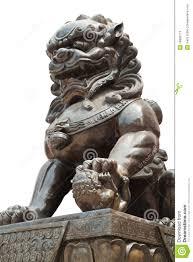 asian lion statues statue sculpture stock image image of chai