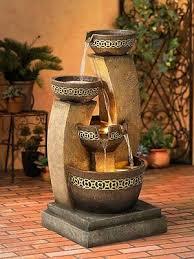 Home Decor Fountain Water Fall Cascading Fountain Feature Patio Garden Home Decor