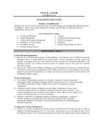 Cats Resume Victor Castrillo Leadership Project Training Analysis Resume V2