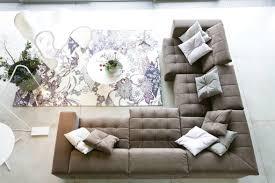 Floral Living Room Furniture Small Apartment Condominium Interior Design L Shaped Living Room