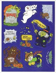 spirit halloween 1983 peel here stickers of the 80s branded in the 80s