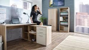 Ecktisch Schreibtisch London 1 Ecktisch Sonoma Eiche Mit Sideboard