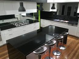 Black Granite Bench Tops 30mm Premium Jet Black Granite Kitchen With Pencil Round Edge