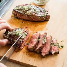 cast iron steaks with herb butter america u0027s test kitchen