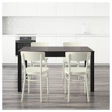 Dining Table Sizes Idolf Bjursta Table And 4 Chairs Black Brown White 140 Cm Ikea