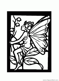 Coloriage Ange avec du muguet à imprimer dans les coloriages Ange