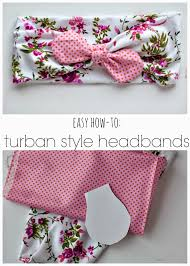 bando headbands diy turban style headband tutorial