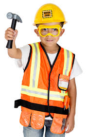 construction worker costume pretend play for boys and