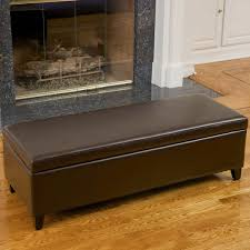 large leather storage ottoman bench making leather storage
