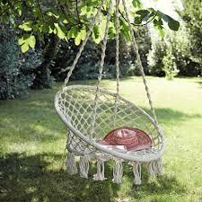 fauteuil en corde fauteuil de jardin à suspendre en corde blanc gabriela
