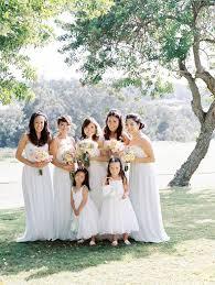 romantic destination hawaii wedding with pale blue bridesmaid
