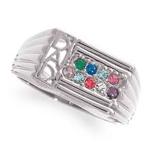 family birthstone rings men s sterling silver family birthstone ring 15953 limoges