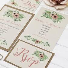 Wedding Stationery Sets Coral Flowers Wedding Stationery Set By Talk Of The Town Parties
