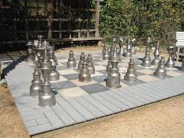 North Carolina travel chess set images King sized chess set in the gardens picture of north carolina jpg