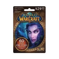battlenet prepaid card interactive commicat world of warcraft 60 day sub card 29 99
