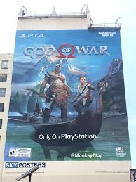 sony s erecting an enormous god of war mural for e3 2017 push square god of war mural 1