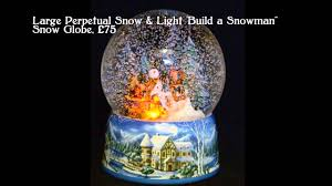 german musical snow globes from barretts build a snowman