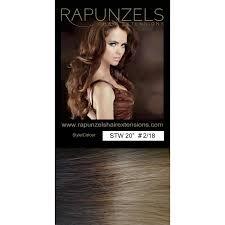 rapunzels hair extensions 110 gram 20 hair weave weft colour 2 18 dip dye ombre