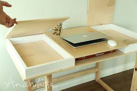 Building A Wooden Desk Top by Ana White Desktop With Storage Compartments Build Your Own
