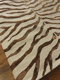 Brown Zebra Area Rug Nuloom Brown Tufted Plush Zebra Area Rug 4 X 6