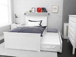 Timber Bedroom Furniture by White King Single Trundle Bed Modern Hard Wood Timber Children