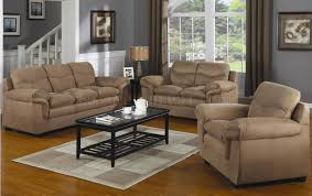 Modern Comfortable Couch Mocha Microfiber Contemporary Comfortable Living Room
