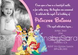 Mickey Mouse Birthday Invitation Cards Birthday Invitation Disney Princesses Birthday Invitations New
