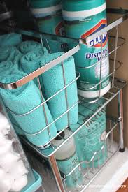 How To Organize Under Your Bathroom Sink - at home with nikki how to organize under the kitchen sink
