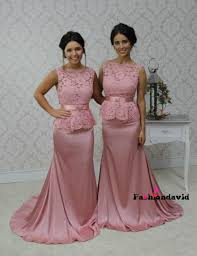 lace party gowns mermaid bridesmaid dresses formal maid of honor