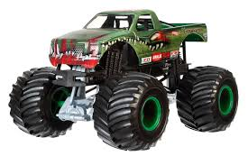 toy monster jam trucks for sale amazon com wheels monster jam 1 24 scale xtermigator vehicle