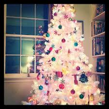 colorful white tree merry and happy new year 2018