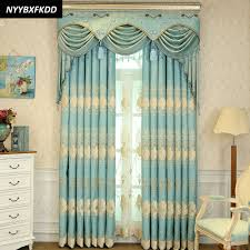 Turquoise Curtains For Living Room Compare Prices On Luxury Curtains With Valance Online Shopping