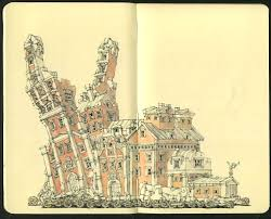 moleskine sketchbooks by mattias adolfsson drawing