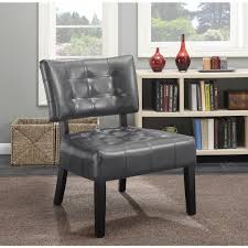 Oversized Accent Chair Anjotiya Faux Leather Tufted Accent Chair With Oversized Seating