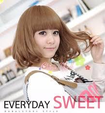 anime haircut story cute sweet rinka haircut girls neat bangs short hair bobo wig a1429