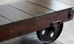 coffee tables coffee table on wheels beautiful industrial cart