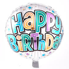 helium birthday balloons happy birthday silver foil helium balloon card factory