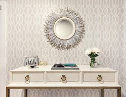 foyer trellis wallpaper design ideas